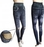 Fashionable leggings with glitter and