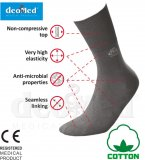 Medical cotton socks DEOMED Silver