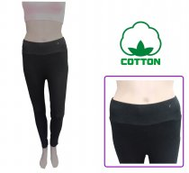 Cotton leggings with a wider waist