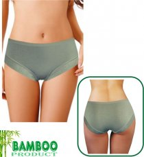 Women's bamboo panties - with elastic pattern strap 'EKAPO'