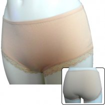 4 pack Cotton women panties with lace on the thighs